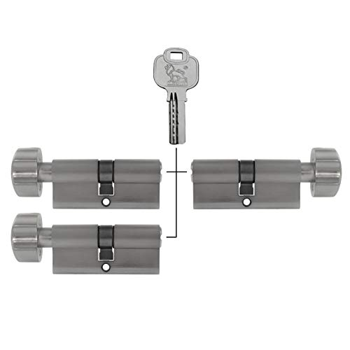 3x Knaufzylinder 70mm gleichschließend KD 35/35 inkl. 10 Schlüssel
