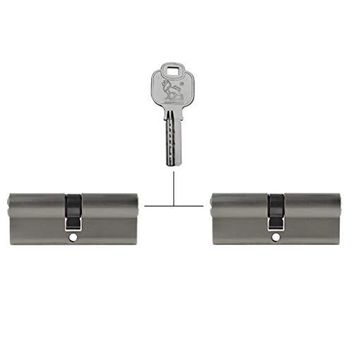 2x Profilzylinder 90 mm 45/45 gleichschließend Not- und Gefahrenfunktion inkl. 10 Schlüssel