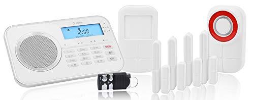 OLYMPIA Protect 9878 GSM Haus Alarmanlage Funk Alarmsystem mit Außensierene und App plug & play bis...