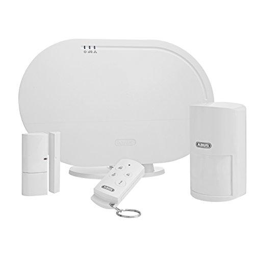 ABUS Smartvest Funk-Alarmanlage & App FUAA35001A- Basis Set - Zentrale, App, Öffnungs- und...