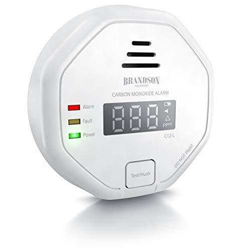 Brandson - Kohlenmonoxid Melder CO Alarm - Kohlenmonoxid Warnmelder - LCD Display – Lauter Alarm...