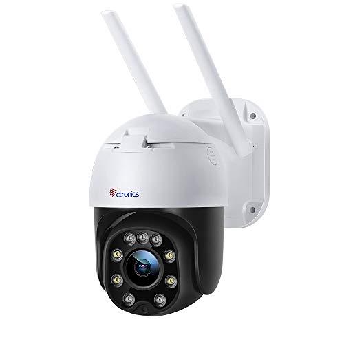 Überwachungskamera Aussen WLAN, Ctronics PTZ Digitaler Zoom Dome WiFi Kamera, 1080P IP Kamera,...