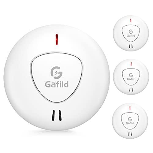 Gafild 3er Set Rauchmelder mit 10 Jahren Batterielaufzeit und Intelligentem Feueralarm,...