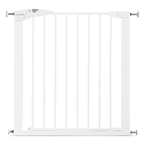 Munchkin Maxi-Secure Tür-/Treppenschutzgitter mit Druckbefestigung, Türschutzgitter für Kinder,...