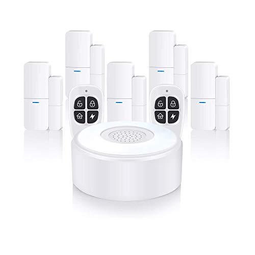Home Alarm System Wireless, Komplette Alarmanlage mit 1 Sirene, 5 Fenster Tür Sensoren und 2...