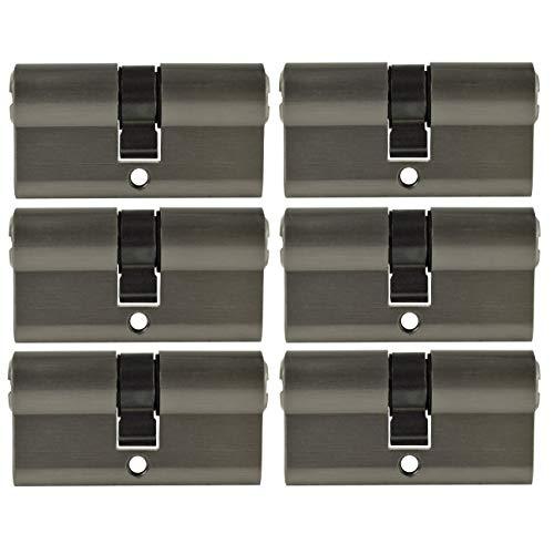 6x Profilzylinder 30x30 Zylinderschloss PZ 60 mm gleichschließend inkl. 20 Schlüssel
