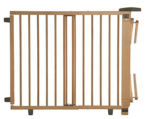 Geuther Treppenschutzgitter für Baby, Kinder und Hund, Absperrgitter für Treppe in Holz, natur, 67...