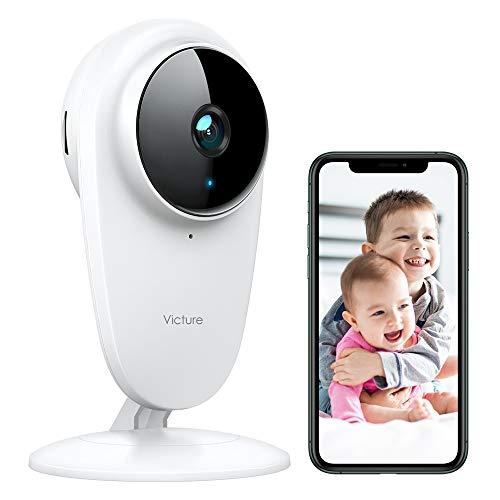 Victure Babyphone mit Kamera 1080P WLAN Baby Überwachungskamera 2.4Ghz Sicherheitskamera mit...