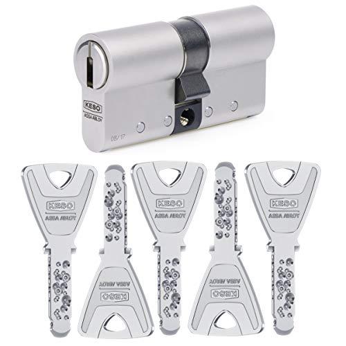KESO 8000 Doppelzylinder mit Not- und Gefahrenfunktion 30/30 inkl. 5 Schlüssel -...