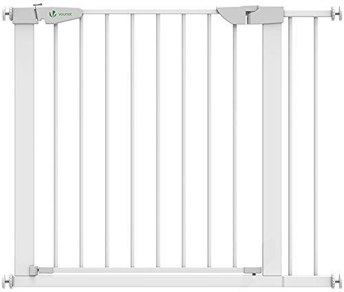 VOUNOT Treppenschutzgitter 76–96cm, ohne Bohren, Türschutzgitter für Kinder, Hunde und Katzen,...