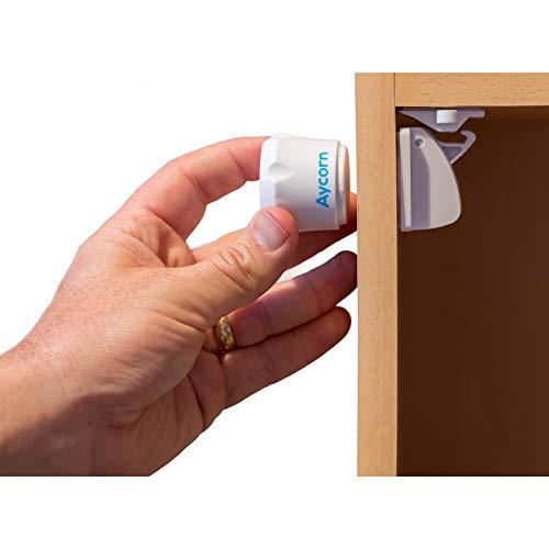 AYCORN Magnetisches Schrankschloss für Kinder und Babys - unsichtbare Kindersicherung für Schrank...