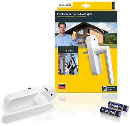 Schellenberg 46512 Fenstergriff mit Alarm, Balkontürgriff, Smart Home Funk-Alarmgriff - für mehr...