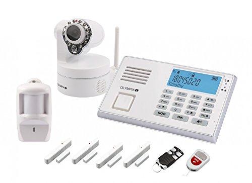 Olympia 5978 Protect 9081 Drahtlose GSM Alarmanlage mit Notruf und Freisprechfunktion, App Steuerung...