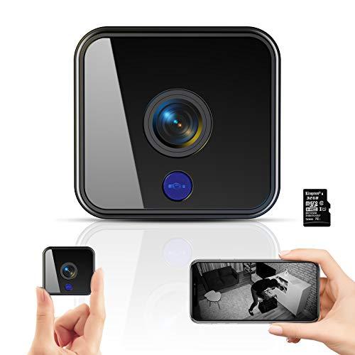 Mini Kamera,1080P HD Überwachungskamera Micro WiFi Akku Kleine Kamera mit Infrarot Nachtsicht,...