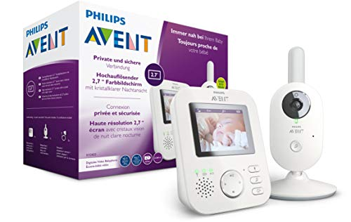 Philips AVENT SCD833/26 Video-Babyphone, 2,7 Zoll Farbdisplay, ECO-Mode, Gegensprechfunktion,...