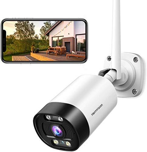 HeimVision 3MP HD WLAN IP Kamera, Überwachungskamera mit Audio für Aussen, 2,4GHz WiFi Outdoor...