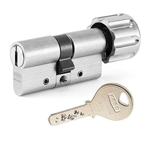 KESO 2500FP Knaufzylinder 30/30K inkl. 5 Schlüssel - Wendeschlüssel-Sicherheitszylinder -...