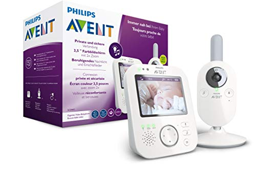 Philips AVENT SCD843/26 Video-Babyphone, 3,5 Zoll Farbdisplay, Eco-Mode, Gegensprechfunktion,...