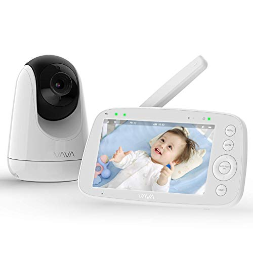 Babyphone mit Kamera, VAVA 5 Zoll Video Baby Monitor 720P IPS HD Display, Nachtsicht, 110 °...