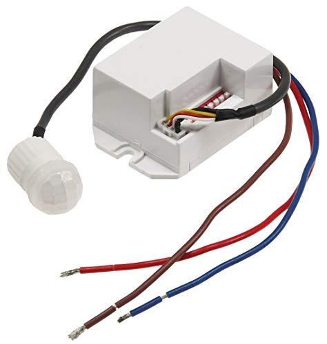 Mini Einbau-Bewegungsmelder CT-PIR 15' 230V, 800W, 15mm, LED geeignet, weiß