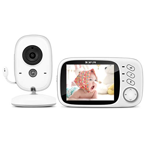 Babyphone mit Kamera, BOIFUN Smart Baby Monitor Video Überwachung mit 3.2' Digital LCD Bildschirm...