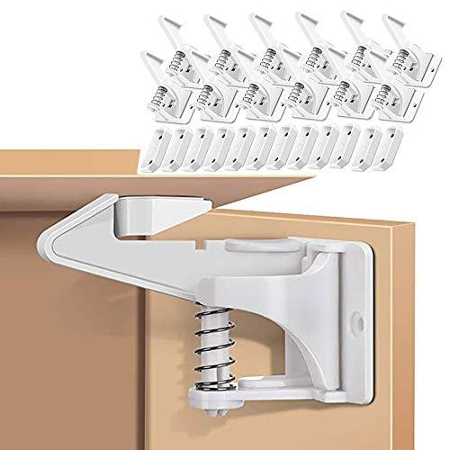 12 Pack Kindersicherung Schrank, Baby Sicherheit Schrankschloss Unsichtbare Schranksicherung Montage...