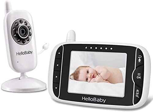 Video Babyphone mit Kamera und Audio, Halten Babys Kinderzimmer mit Nachtsicht,Rücksprache...