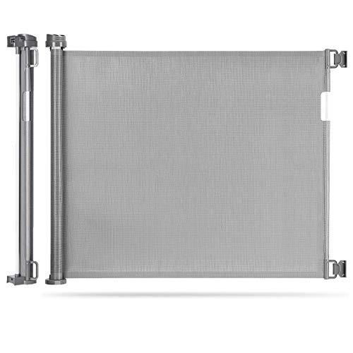 Einziehbares Babygitter, extra breites Türschutzgitter Roll 0-180cm, Einhandbedienung,...