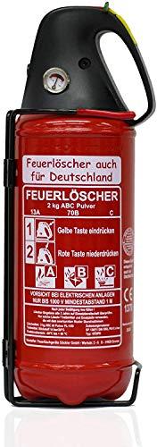 Brandengel Premium Autofeuerlöscher 2kg Pulverlöscher Feuerlöscher, LKW PKW Motorrad KFZ DIN EN 3...