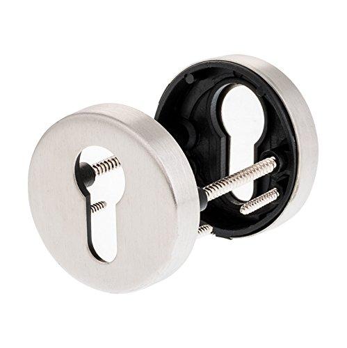 Schlüsselrosette Profilzylinder | V2a Edelstahl matt | 1 Paar