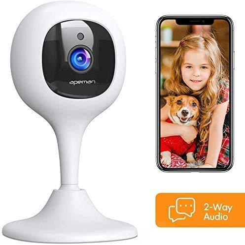 APEMAN Babyphone mit Kamera, 1080P WLAN Kamera und Überwachungskameras mit Nachtsicht...