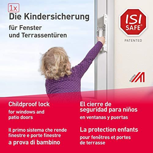 1 x ISI SAFE Fenster, Balkon- und Terrassentürensicherung, Montage ohne Werkzeug, keine...
