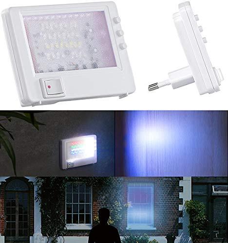 VisorTech Fernsehsimulator: Steckdosen-TV-Simulator zur Einbrecher-Abschreckung, 32 LEDs, 2,6 Watt...