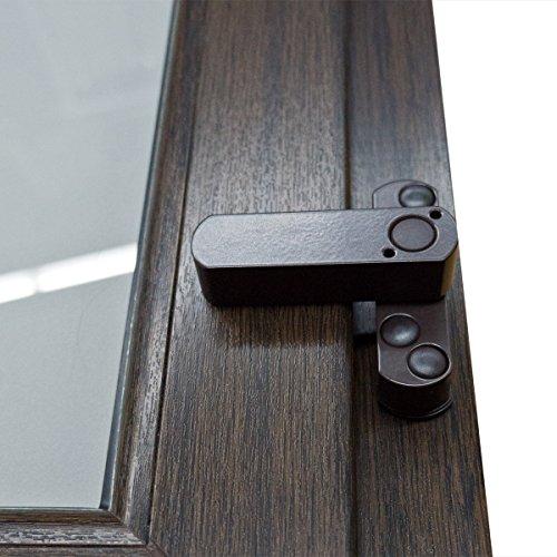 5 x Bever Stuco Safe Fenstersicherung, 1-flügelig, braun, 20SB