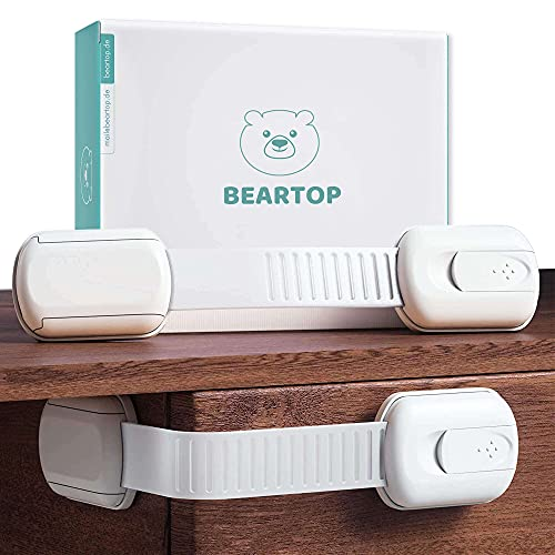 Premium Baby Schubladensicherung von BEARTOP   bombenfester Halt (15kg)   schadstoffgeprüft  ...